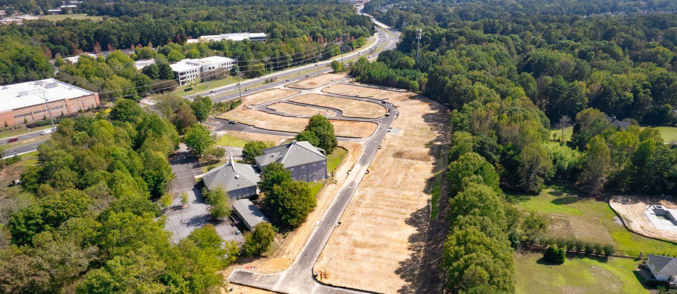 Villas at River Park Front Entry Community Aerial