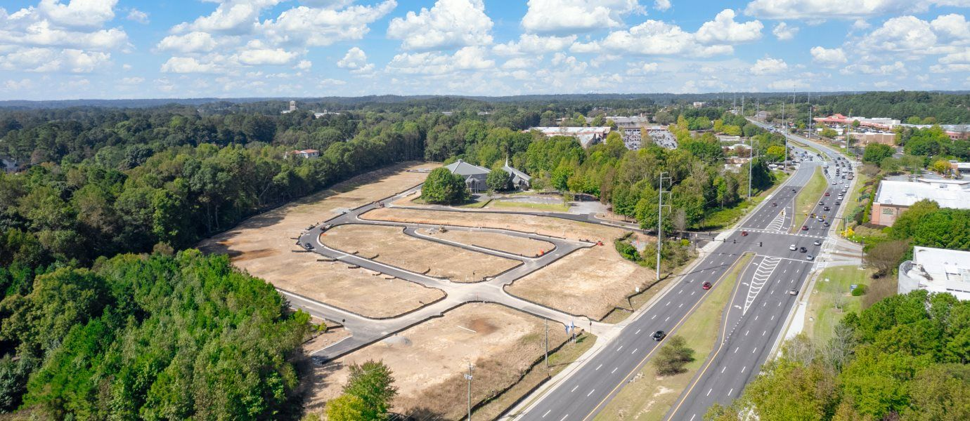Villas at River Park Rear Entry Community Aerial