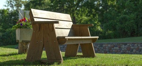 Quaint Park Bench