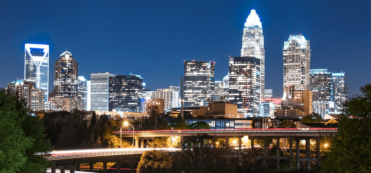 Uptown Charlotte at Night