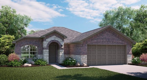 Sunflower C Elevation with brick and stone