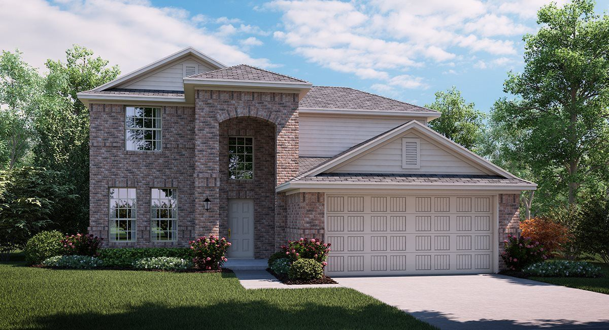 Orchid 3873 A elevation with brick