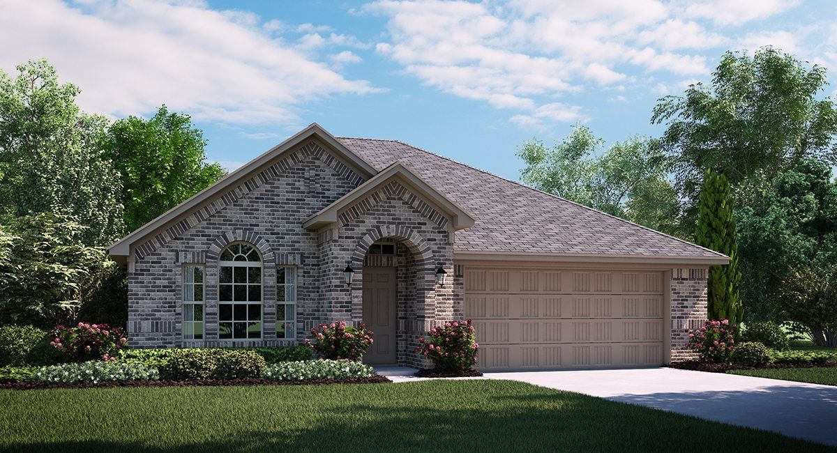 Cantera A Elevation with brick