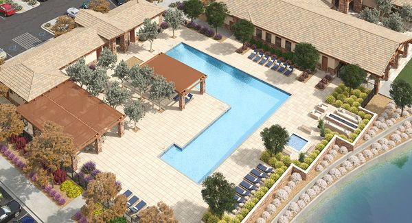 Resort-inspired pool complex