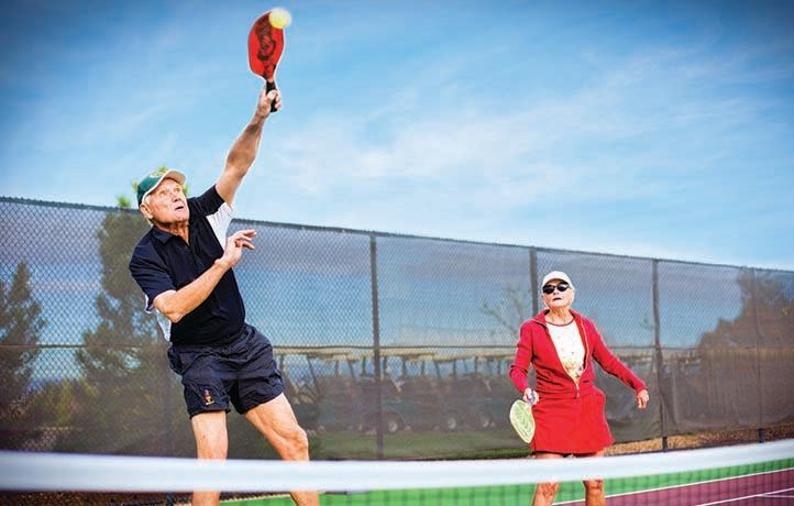 Get moving at the pickle ball courts
