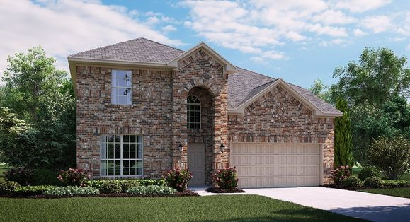 Alabaster 3763 A Elevation with brick