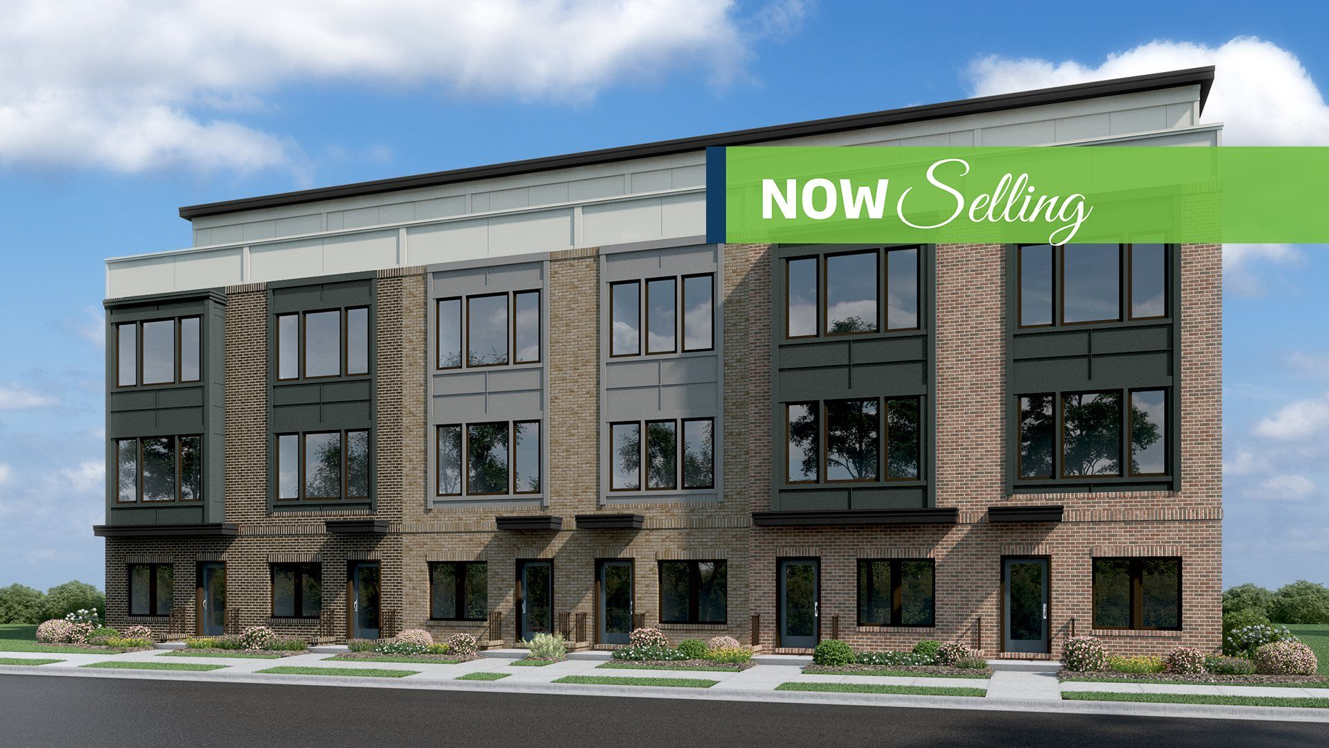 Westside at Shady Grove Metro Carnegie Townhomes Elevation
