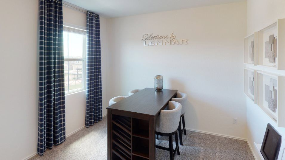 Rancho-Sienna Malone Collection Bisset Bedroom 3:With three bedrooms in total, this home is ideal for small and growing families
