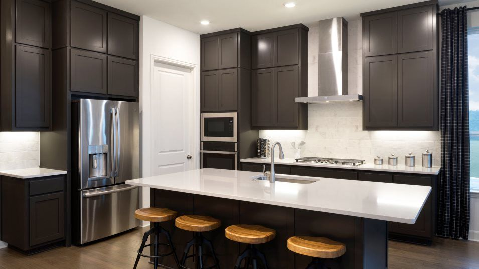 Rancho Sienna Havergate Collection Eppright Kitche:The kitchen has a contemporary look that includes an open concept layout, stainless steel appliances