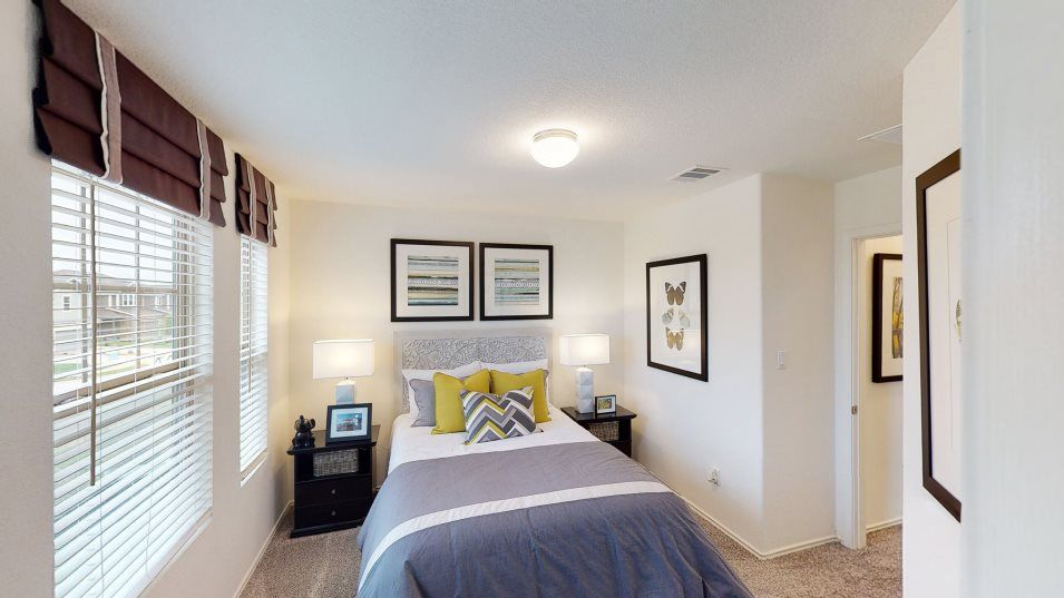 Stoney Ridge Burton Bedroom 3:With three bedrooms, this home is ideal for small and growing families.