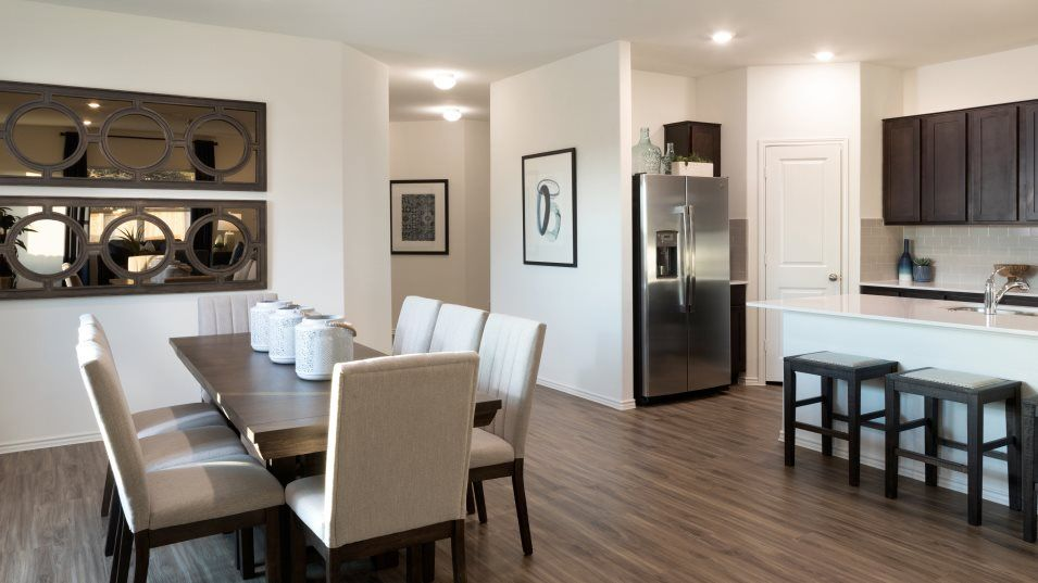 Bryson Claremont Collection Aplin Kitchen:The open layout of the kitchen makes it easy to transition between activities in modern day-to-day l