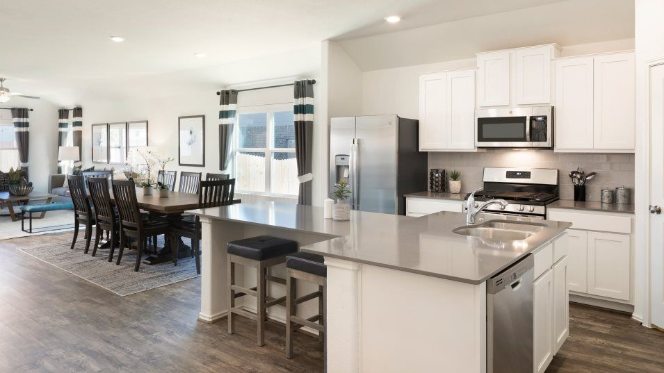 Bryson Claremont Collection Duff Kitchen:This spacious kitchen features brand-new stainless steel appliances, ample cabinetry and a center is