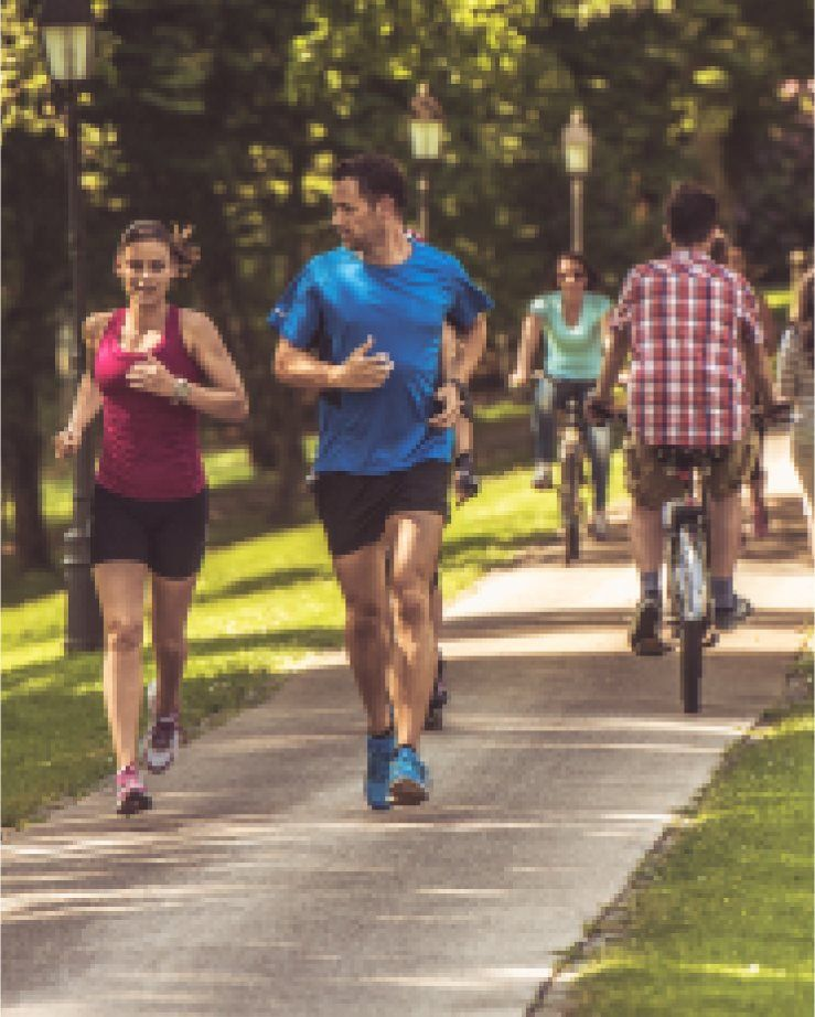 Commons at Rowe Lane great for jogging, biking