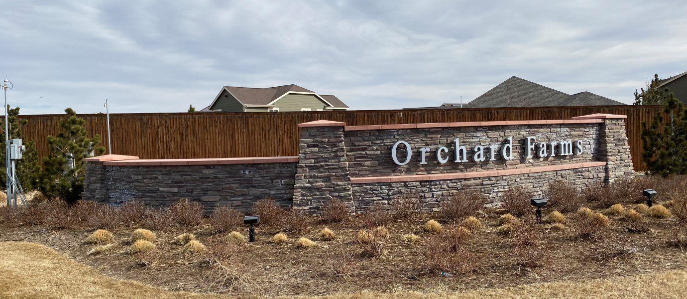 Orchard Farm Entrance Sign