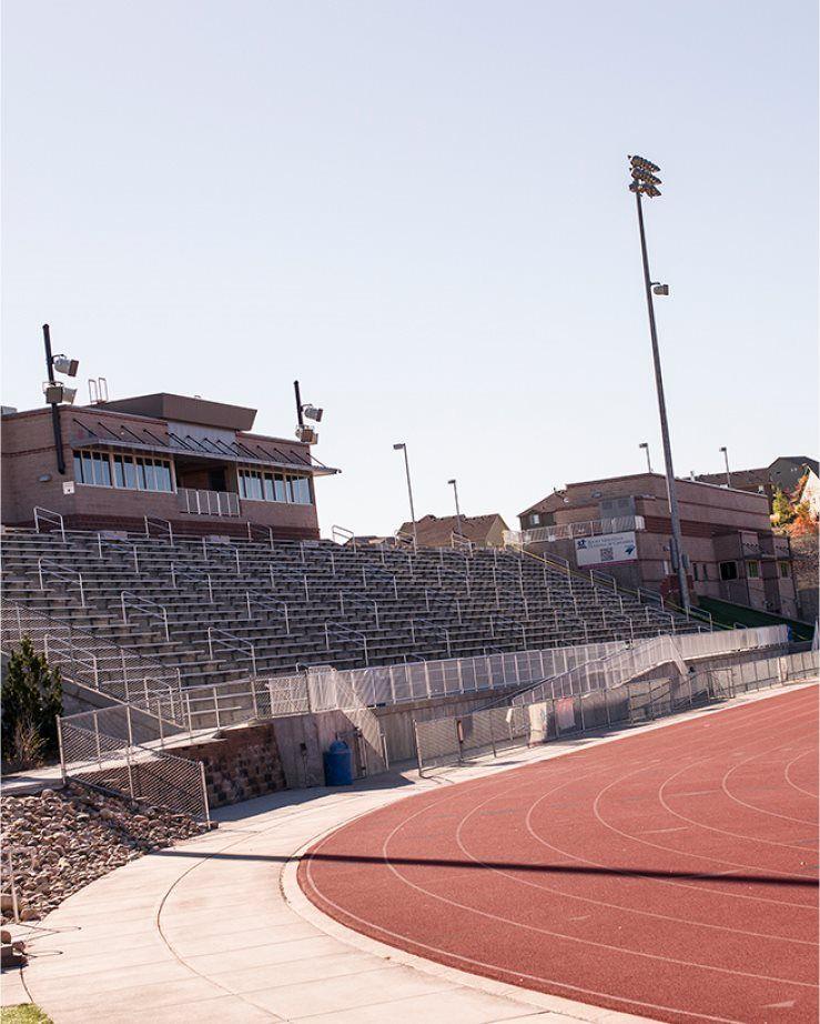 An athletic stadium