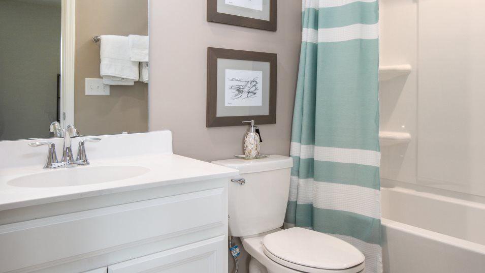 Forestbrook Estates Annandale Bathroom 3:An optional bathroom off the bonus room, available at select homesites.