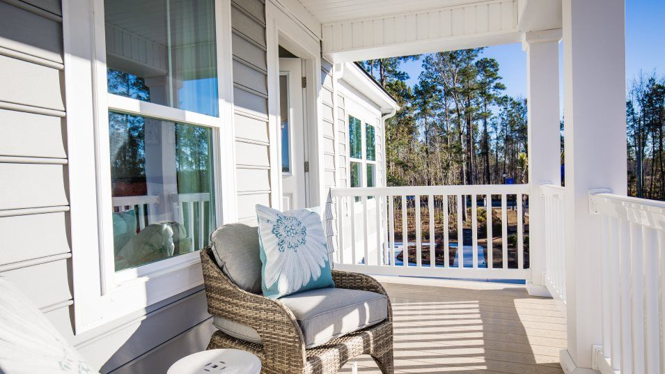 Forestbrook Estates Kensington Outdoor Space:With an inviting front porch on both levels and a back covered patio, the home boasts plenty of outd