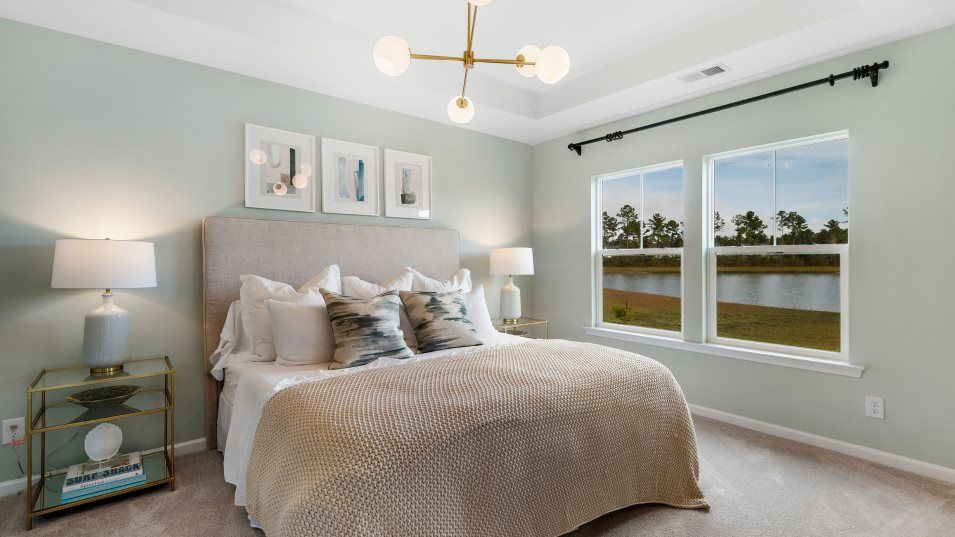 Forestbrook Estates LITCHFIELD II Owner's Suite:This airy owner's suite acts like a private getaway and enjoys a full-sized bathroom, dual vanities