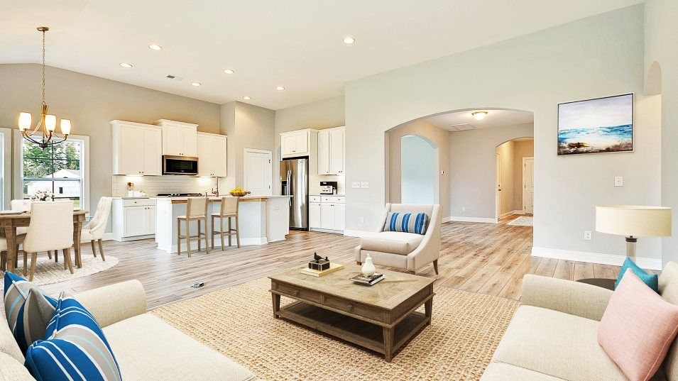 Forestbrook Estates BARRETT II Family Room:Situated among the home's free-flowing design, the family room is ideal for hosting movie nights or