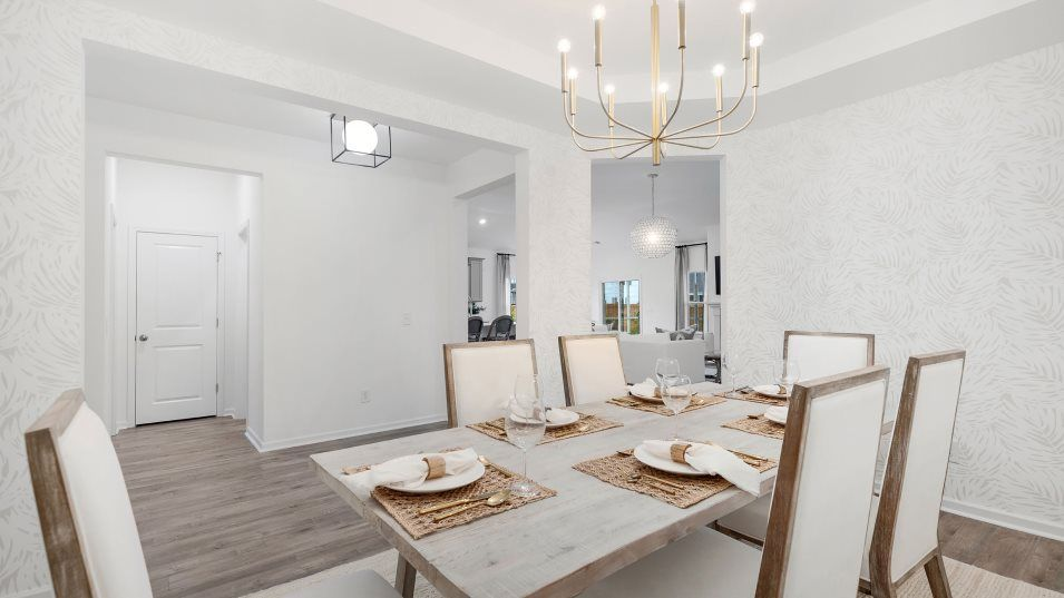 Belle-Harbor Coastal Collection CONYERS II Dining:A formal dining room is ready for meals of any occasion, from family dinners to holidays with extend