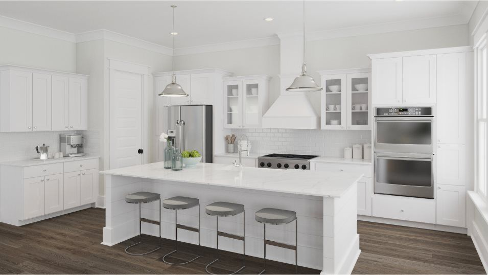 Carolina Park Riverside Anson Kitchen:For the inspired home chef, the gourmet kitchen boasts an oversized center island for bar-style seat