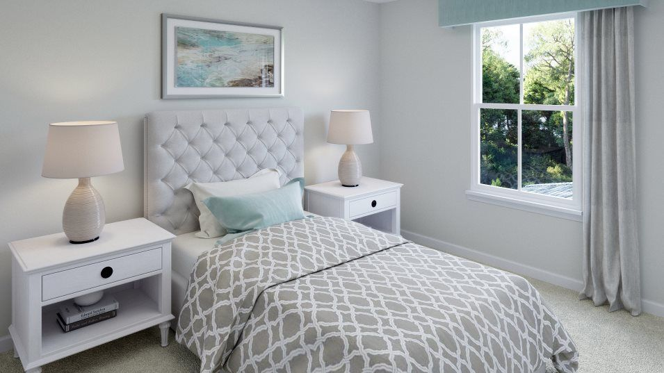 Queens Park FOXTAIL Bedroom 2:Five secondary bedrooms are hosted on the top floor providing plenty of space for every member of th