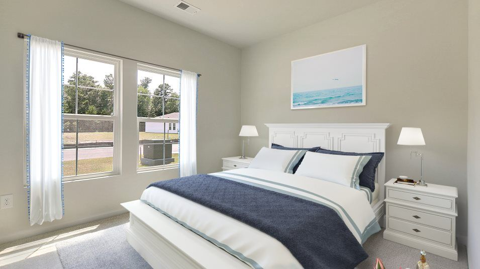 Cooper's Bluff HARTFORD Bedroom 2:Three secondary bedrooms are found off the entry to provide family members peace and quiet after a b