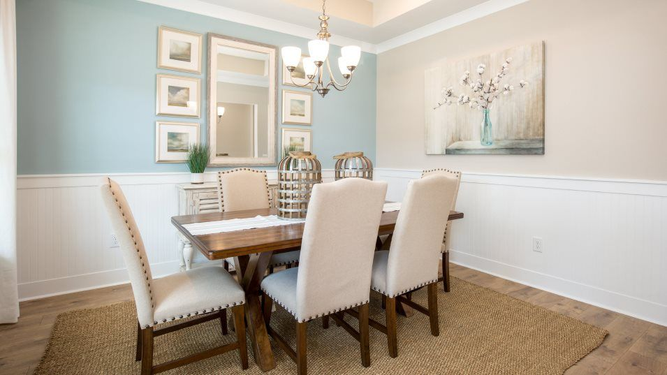 Brunswick Plantation ANNANDALE Dining:A formal dining room provides an elevated location for meals of any occasion, from family dinners to