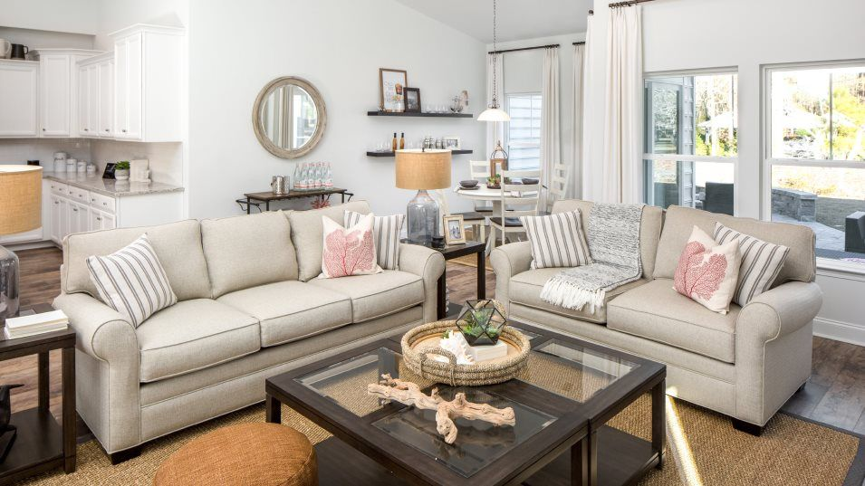 Brunswick Plantation MUIRWOOD Great Room:Connected to the nook and open kitchen is a spacious Great Room in the heart of the home, ideal for