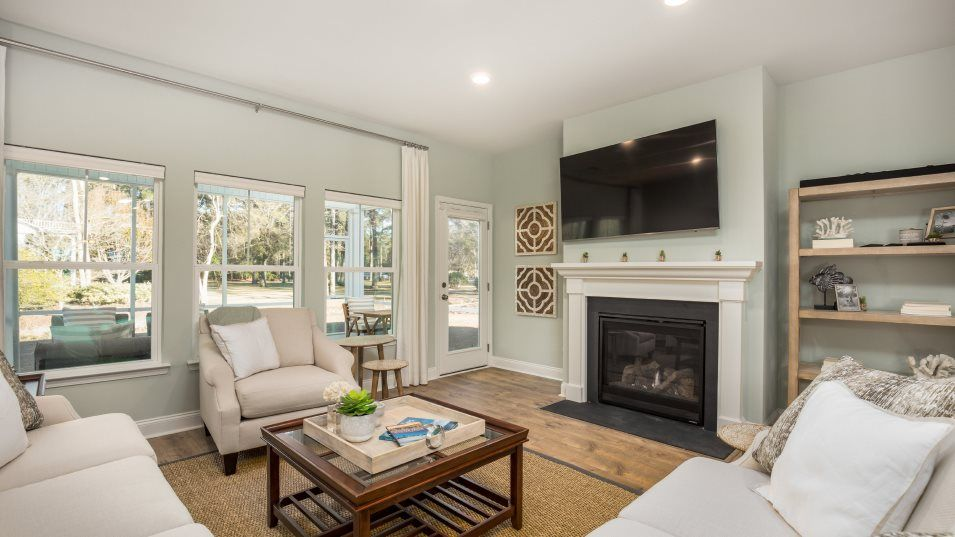 Waterside-at-Lakes-of-Cane-Bay Arbor Collection KE:Connected to the open breakfast nook and kitchen, this family room is great for entertaining or rela