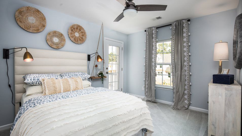 Waterside-at-Lakes-of-Cane-Bay Arbor Collection HA:All bedrooms are located on the second floor and feature roomy walk-in closets for extra wardrobe st