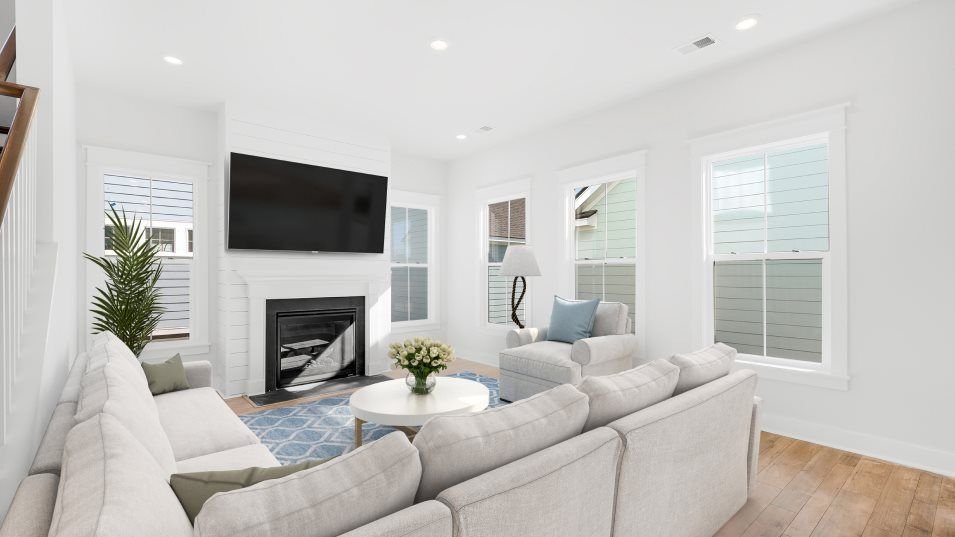 Carolina Park Phase 10 & 12 Beaufort Family Room:A family room is a comfortable gathering space and is shared with the open layout of the kitchen in