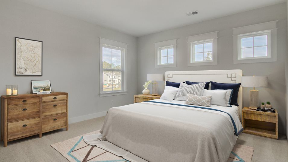 Carolina Park Phase 10 & 12 Keowee Owner's Suite:Nestled away for privacy, the owner's suite features a luxury bathroom complete with a separate walk