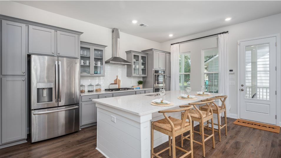 Carolina-Park Phase 10 & 12 ASHLEY Kitchen:For delicious meals, this kitchen is equipped with a stunning center island for casual dining, styli