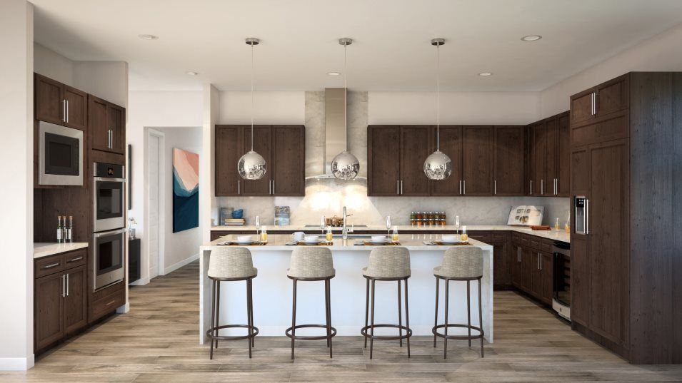 Sierra Ranches Savannah Kitchen:With durable and sleek quartz countertops, this kitchen is equal parts stylish and functional.