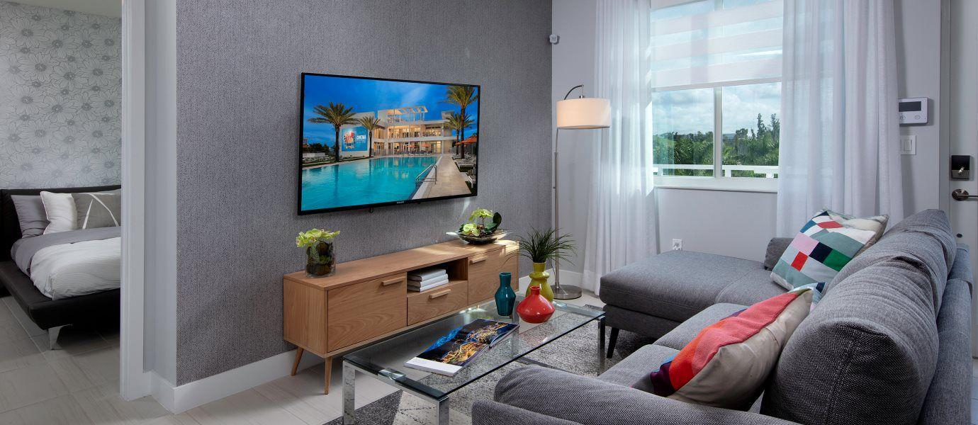 Landmark Condominiums Model D Living