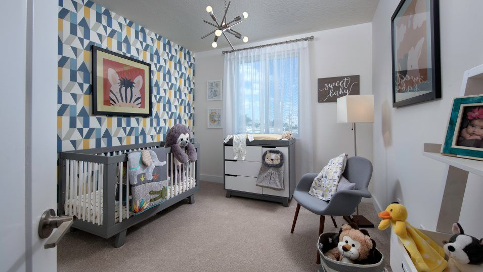 Landmark Condominiums Model F Bedroom 2:Two secondary bedrooms provide plenty of space for younger family members.