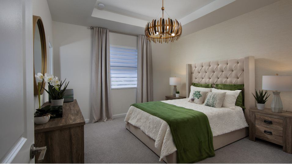 Campo Bello Twin Homes Bartelo Owner's Suite:Found on the second level, the owner's suite features a generous bedroom, a spa-like bathroom and a