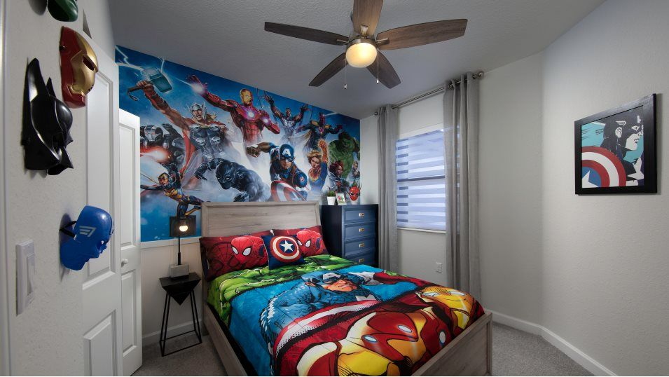Campo Bello Twin Homes Bartelo Bedroom 3:With three bedrooms in total, this home is perfect for small and growing families.