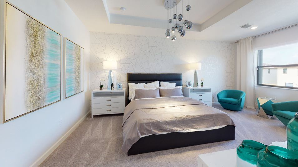 Campo Bello Twin Homes Perennial Owner's Suite:The owner s suite is a spacious retreat featuring an immense walk-in closet, bathroom with an oversi