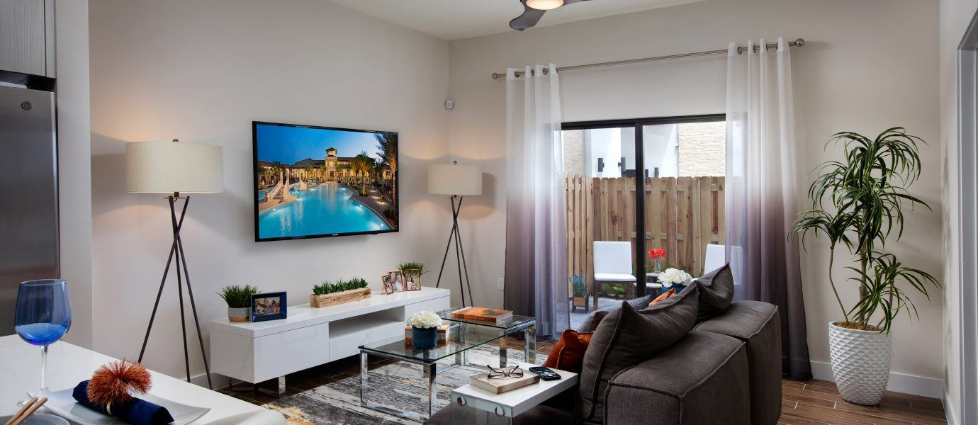 Park Central Apex Oakwood Living Room
