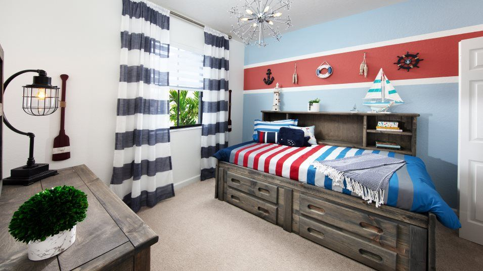 AquaBella The Harbor Collection Greenport Bedroom:With three bedrooms in total, this home is perfect for small and growing families.