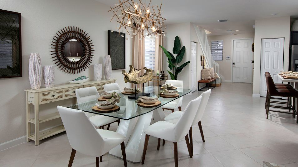 Aquabella Paraiso - Solis Dining Room:The dining room is located among the open floorplan, so transition from the kitchen and into the Gre