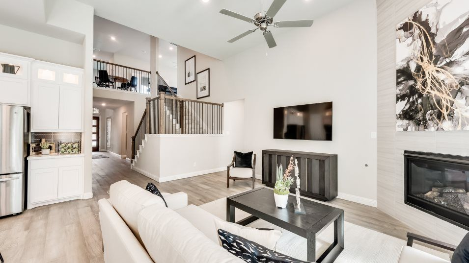 Lonestar Estates Heritage w/Theater Family Room:This central spot is perfect for gathering with friends and family, while a fireplace offers warmth