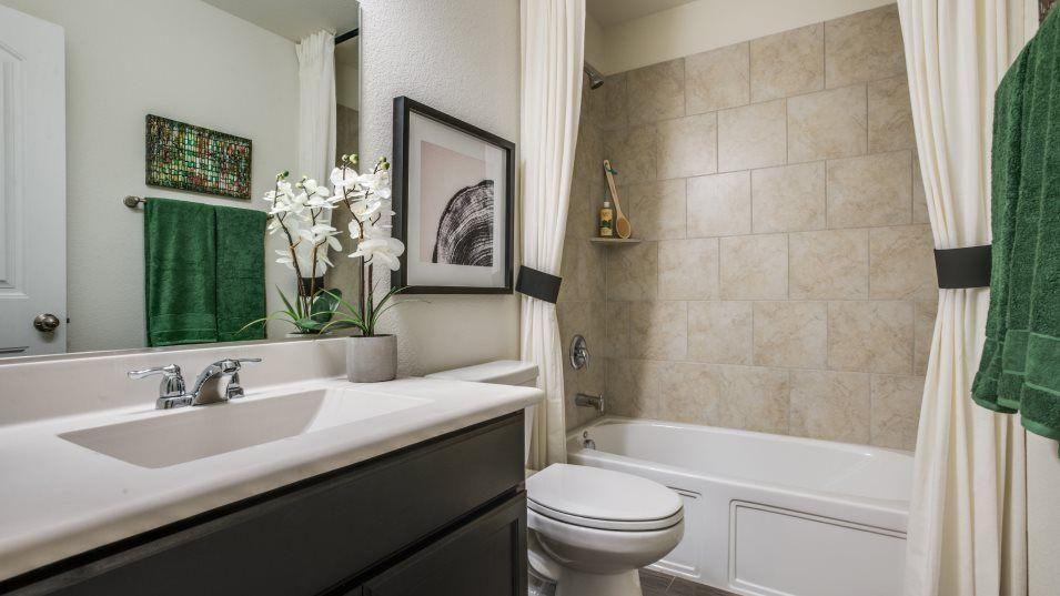 Arcadia Farms-Classics Sonata Bathroom 2:Bathrooms features gorgeous tile around the bathtub