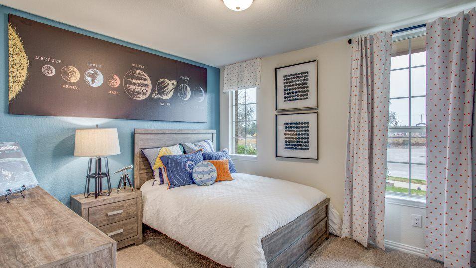 Trinity Crossing 50 Allegro Bedroom 2:Each secondary bedroom includes a walk-in closet for wardrobe storage space.