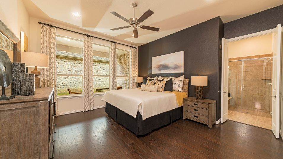 Elements at Viridian Sinatra Owner's Suite:The ultimate getaway, the owner's suite showcases a large bedroom surrounded by windows for ample na
