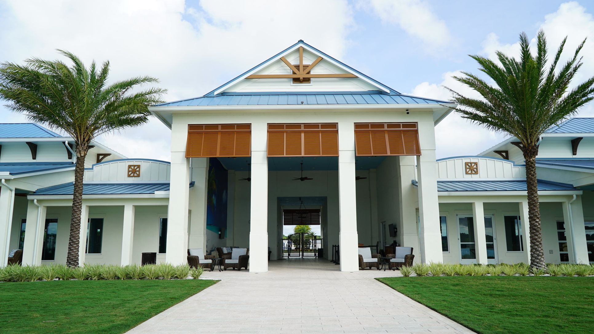 Front of clubhouse building
