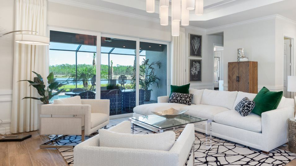 Babcock-National Executive Homes Calusa Family Roo:The family room's prime location makes it easy to transition from dinner to movie night with loved o