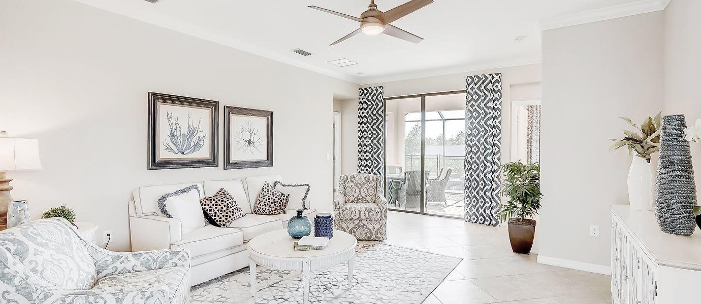 Biscayne Landing Executive Homes Capri Living Room